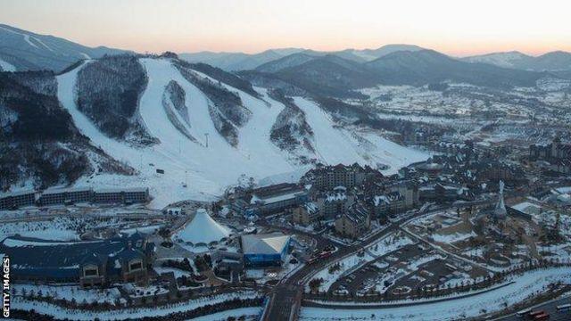 อัลเพนเซียถูกใช้เป็นสนามแข่งขันหลักของกีฬากลางแจ้งในโอลิมปิกฤดูหนาวครั้งนี้