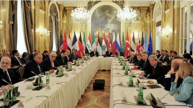 Conference on Syria at the Hotel Imperial in Vienna, Austria