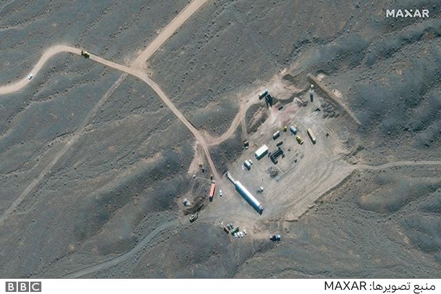 کارگاه ساختمانی در حدود یک کیلومتری جنوب تاسیسات نطنز