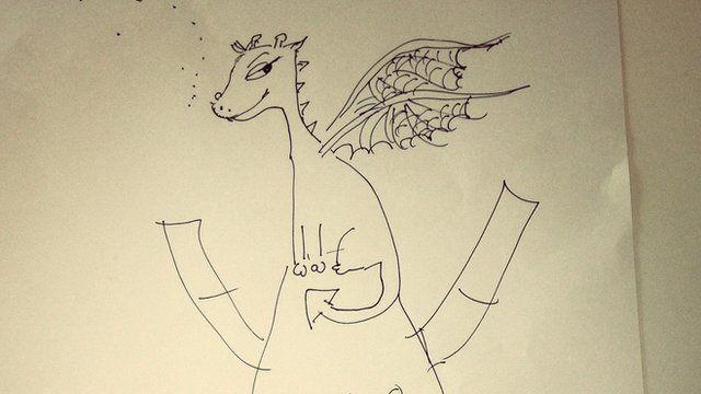 Cressida Cowell's drawing of Toothless