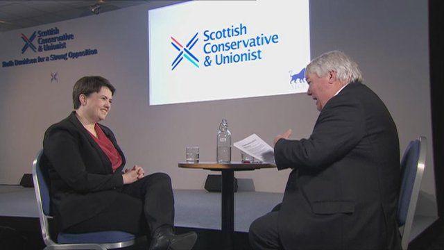 Ruth Davidson and Brian Taylor