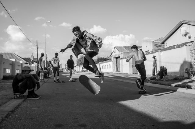 Skateboarders in Soweto, South Africa