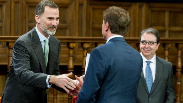 Entrega del Premio Rey de España a los Derechos Humanos a la Patrulla Aérea Civil de Colombia.