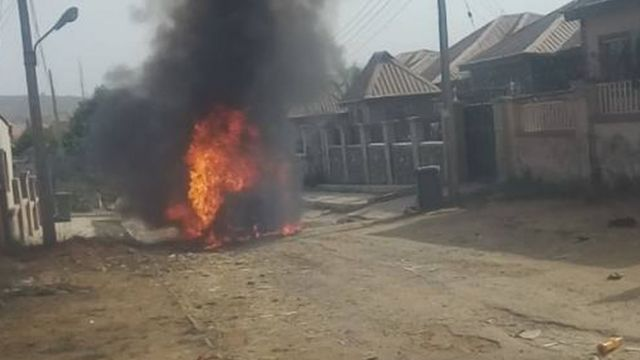 school bus catch fire for trademore estate