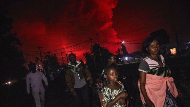 Mount Nyiragongo volcano eruption make DR Congo evacuate city of Goma - BBC  News Pidgin