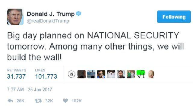 ٹرمپ کی ٹویٹ