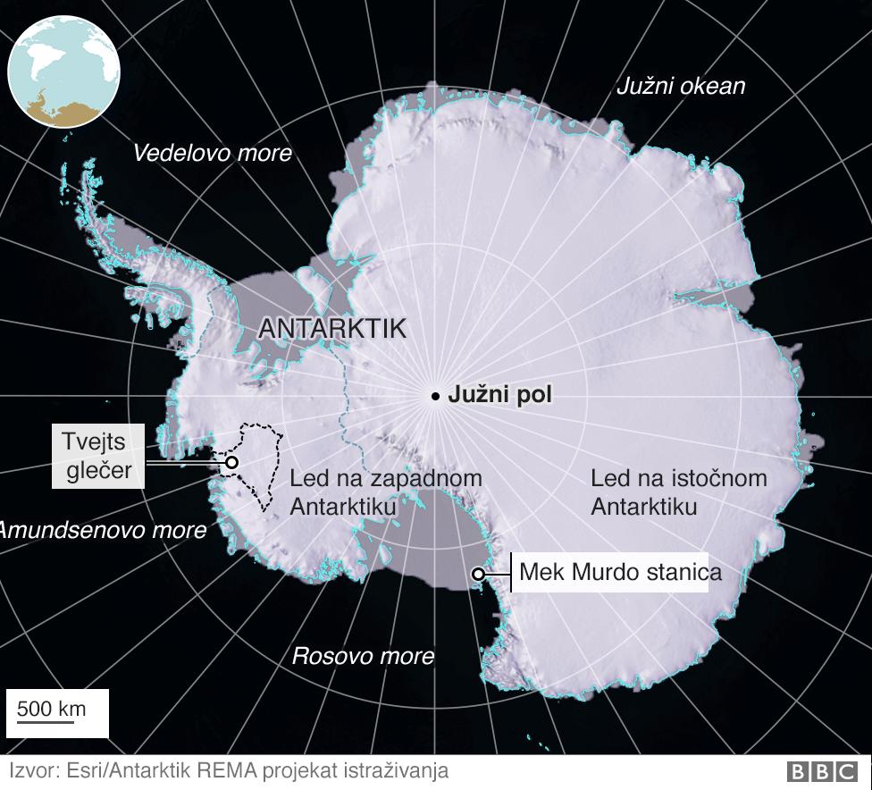 Mapa Antarktika