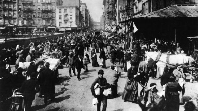 Lower East Side de Nueva York a finales del siglo XIX.