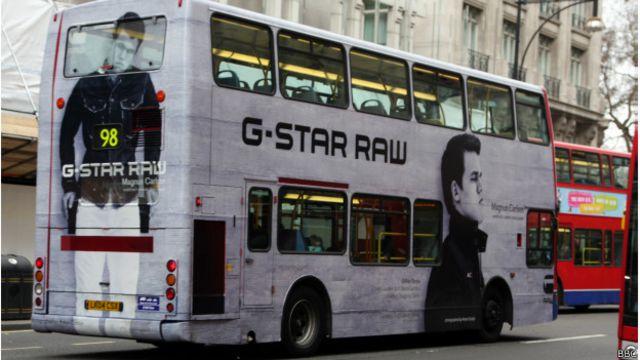 Автобус с рекламой