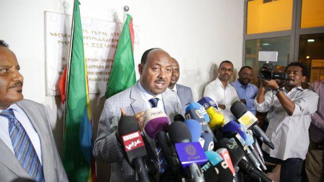 محمود درير مبعوث رئيس وزراء إثيوبيا توسط بين الطرفين