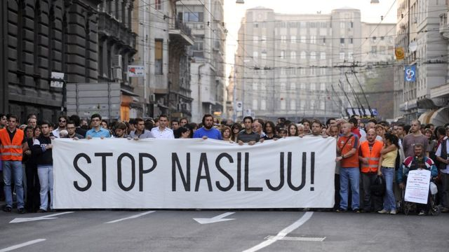 Protest, Beograd, 1. oktobar 2009.