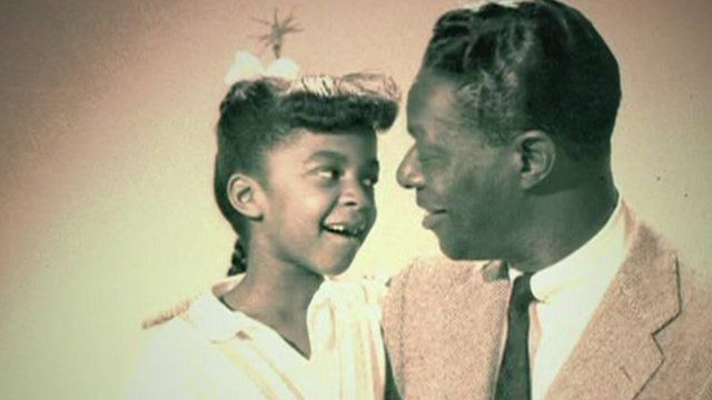 "Natalie Cole with her father, Nat ""King"" Cole"