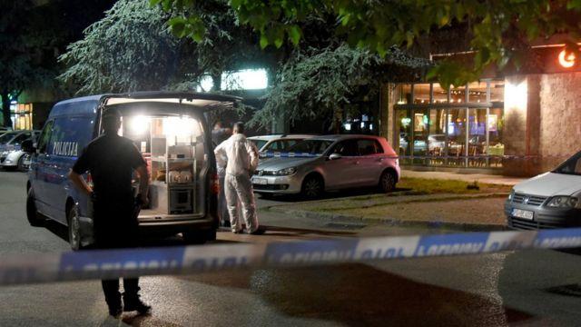 Mesto napada, Podgorica, 9. maj 2018. godine