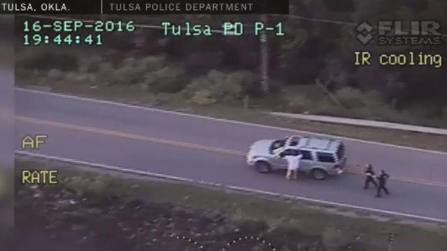 Captura de video de la detención de Terrence Crutcher