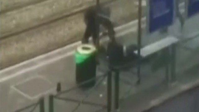 Officer with man shot in Brussels