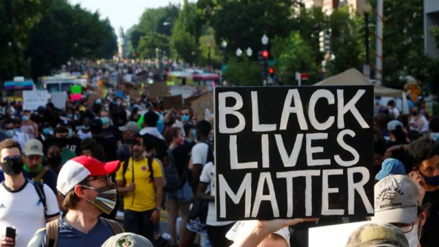 Manifestantes en Washington D.C.
