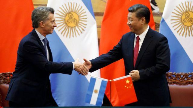 Mauricio Macri y Xi Jinping.