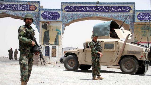 Soldati afgani a Herat nel luglio 2021