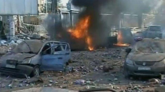 Explosión en la Universidad de Alepo