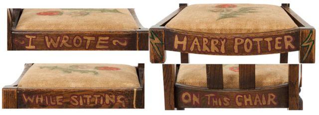 ハリー・ポッターと同じように、椅子にも稲妻の印が