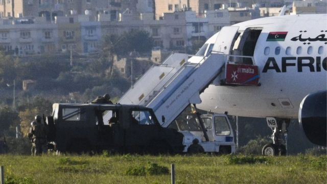लीबिया का यात्री विमान