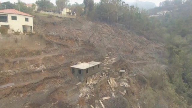 Madeira fire aftermath