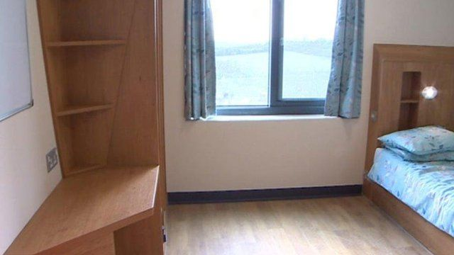 Inside the single en-suite room