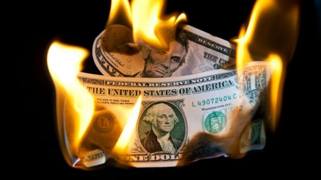 Dollar on fire