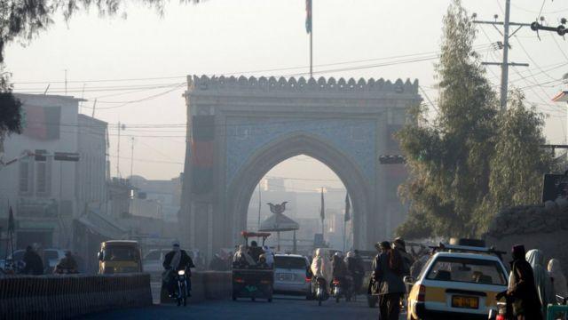 البوابة الرئيسية لمقر والي قندهار