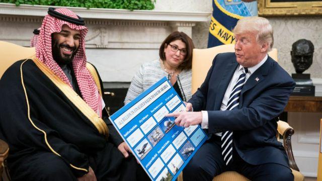 Donald Trump e bin Salman