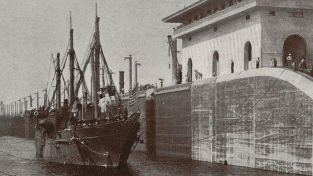 Buque en Panamá a principios del siglo XX