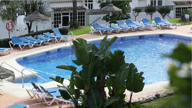 One of di pools for di Club La Costa World resort