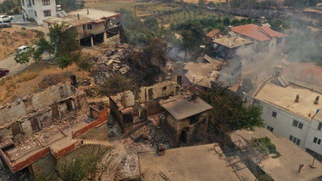 сожженный поселок