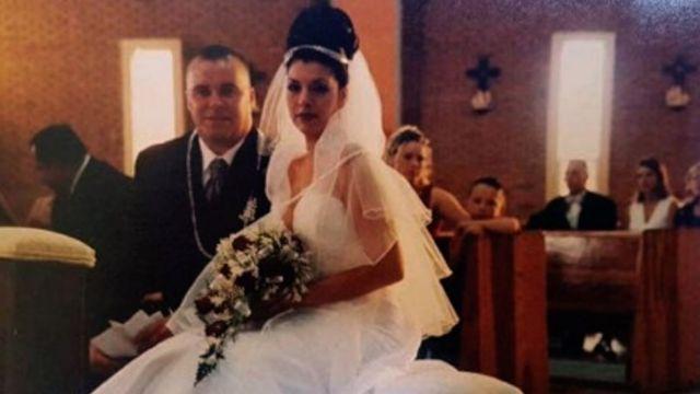 Ana y Shawn Suda en su matrimonio
