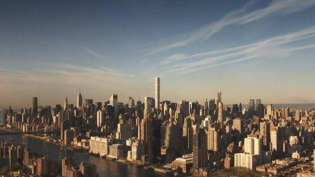 Aerial shot of New York