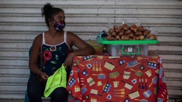 Vendedora en Nicaragua