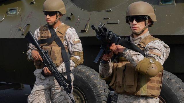 Soldados do exército chileno