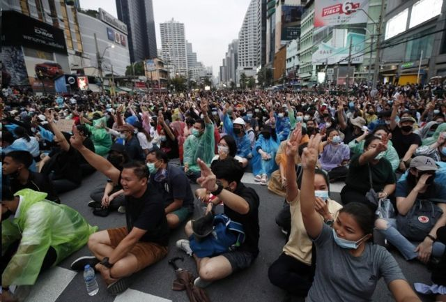 معترضان تایلندی