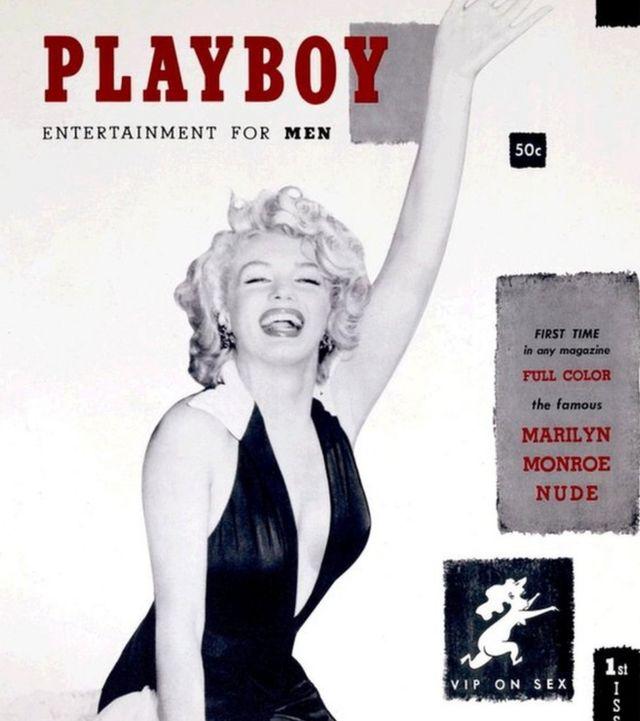 La primera edición de Playboy, en 1953 con Marilyn Monroe en la portada