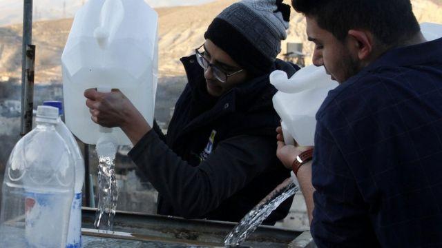 شح المياه في دمشق