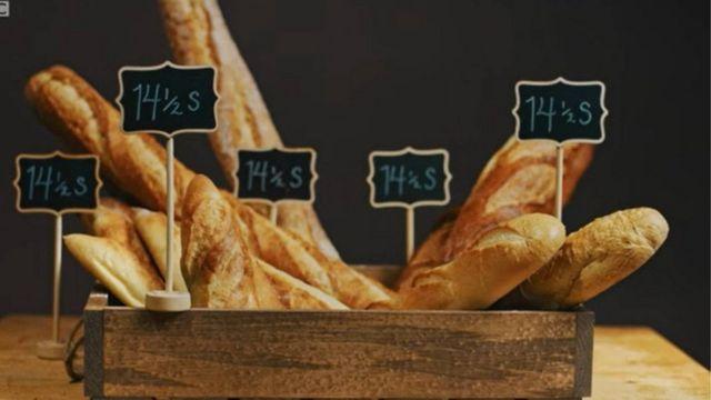 Baguettes con el mismo precio y distintos tamaños