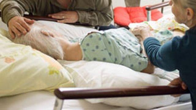 Paciente en el hospicio Zen de San Francisco (Foto: Hospicio Zen)
