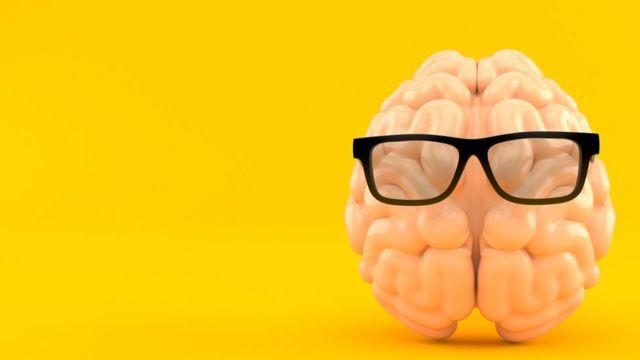Cérebro com óculos