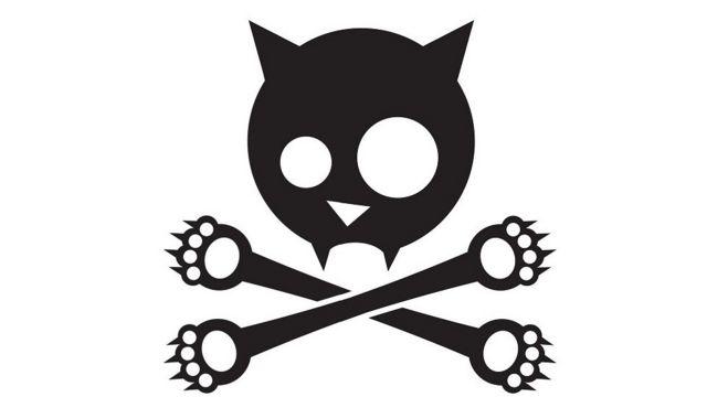 رسم تعبيري للقطط الميتة والعظام