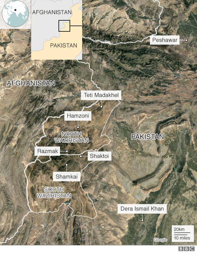 map of Pakistani tribal areas