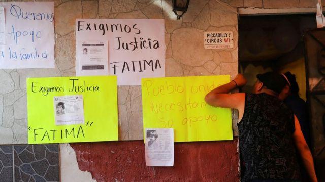 Cartazes exigem justiça para Fátima