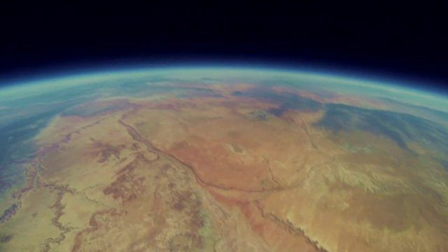 View from space balloon