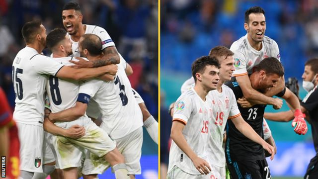 Italy and Spain celebrate