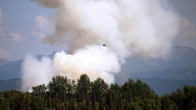 лесные пожары на аляске