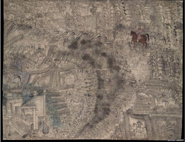 पानिपतच्या युद्धाचं चित्र